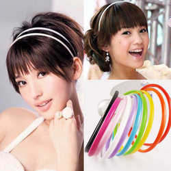 Free shipping 12 pcs of E6045 the most lovely beautiful candy color Rainbow Hair Barrette broadside(China (Mainland))