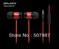 Free shipping  AVEI 20-20000 hz 3.5 mm In-Ear Earphone for iPhone, iPod, iPad