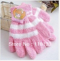Winter thick warm comfortable towel gloves    coral velvet gloves    home furnishing magic gloves