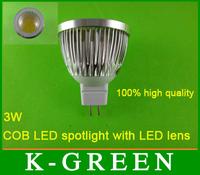 hot sales dimmer MR16 3w cob led spotlight with LED lens popular cob led lighting new MR16 3w COB LED Spotlight free shipping