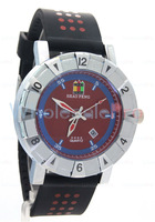 Men's SHAO PENG Quartz Date Stainless Steel 1ATM Water Resistant  White Blue Red Watch