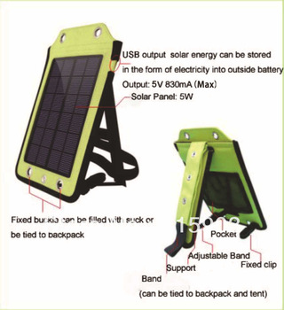 solar backpack charger solar collector