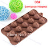 Hot Sale, Semicircle Windmill Chocolate Molds Jelly Ice Molds Cake Mould Bakeware