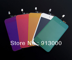 5PCS For i pod Touch4 Replacement Electroplating Color LCD Display+ Touch Screen Glass+Home Button,Full Assembly High Quality(China (Mainland))