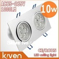 Integration double Head led lamp ,10 W ceiling lamp,High power,AC85-265v,900-1000lm,Cool /Warm white,2 yrs warranty,freeshipping