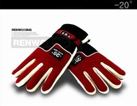New 2013 -20 Degrees windproof fleece Outdoor Sports Warm glove Ski gloves Red