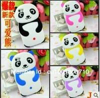 wholesale 100pces Fashion 3D panda silicone case for iphone5 case DHL FEDEX free shipping