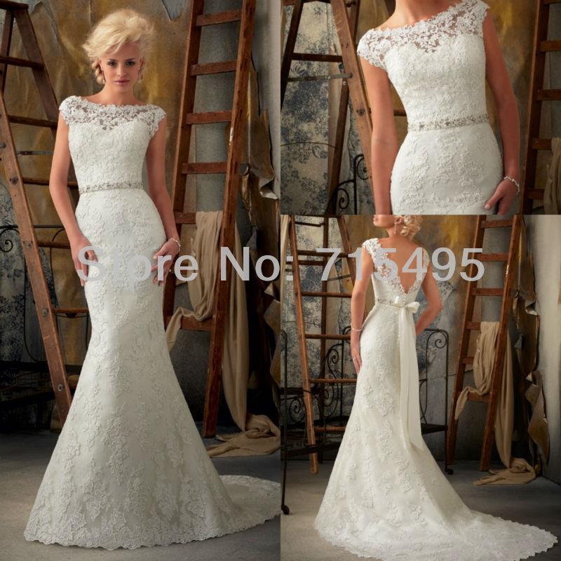 Lace Back Wedding Dresses 2016