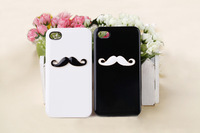 Free shipping for iphone 5 mustache, cute phone shell, the shell of the phone can be customized.
