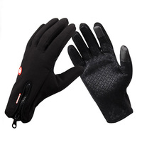 New 2013 Anti-slip Windproof winter Cycling Ski Bike Bicycle Full Long finger warm iphone 3g 4g 4s 5 touch screen gloves size S