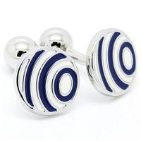 Blue and White Strip Cufflinks