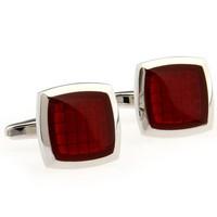 Classic Fashion Cufflinks Square Red Epoxy Cuff Links