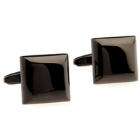 Black Copper Alloy mens Cufflinks