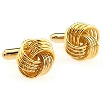 Gold Metal Knot Cufflinks for men