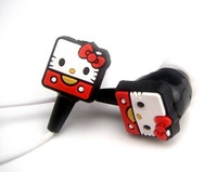 Lovely Cartoon Figure Hello Kitty Earphone Support by 3.5mm Port
