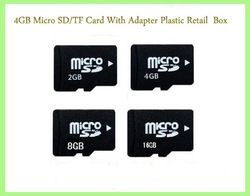 Wholesale! 5opcs/lot 2GB /4GB/8GB/16GB TF Card/Micro SD Card+ High Capacity+Adapter+Box+Mini Flash Memory Driver Free Shipping(China (Mainland))