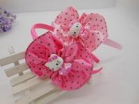 Free shipping,New design,cartoon Hello Kitty+20pcs/lot,baby girls cute hairband,kinds KT headband,childrens hair accessories