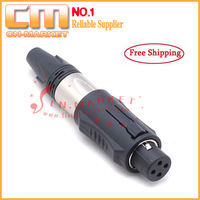 [12pcs/lot] Excellent quality CA301 Unisex XLR audio connector free shipping, similar as Neutrik NC3FM-C