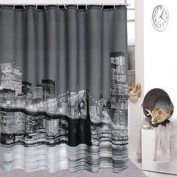 Hot! High Quality City Night View Bathing Waterproof Bathroom Fabric Shower Curtain 1pcs/lot ZF074