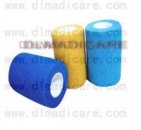 Coban Non woven cohesive Wrap Bandage Latex  10cm x 4.5m