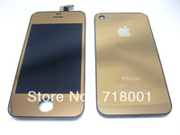 Compatible iphone4LCD and digital assembly deep gold, free shipping!