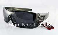 2013 new style BATWOLF matte gun frame black logo Polarized gray Connection lens men's sports sunglasses-008