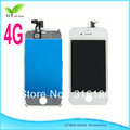 2pcs Original 4G  full front assembly, with LCD, touch screen digitizer for iphone 4/4G  white lcd  free shipping