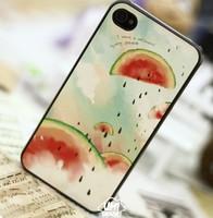 watermelon cute cartoon case for iphone 4/4s Free shipping cheap