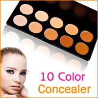 10 Colors Makeup Concealer Cream Palette 3pcs/lot
