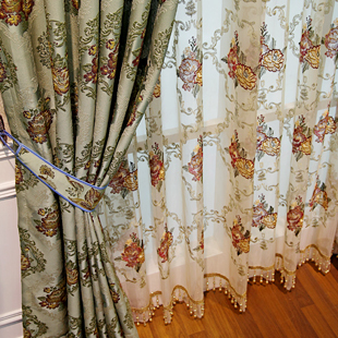 Jane zhang shop genuine European retro curtains bedroom villa ...