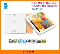 3G/Wifi In Stock FNF iFive MX 8 inch IPS Screen 8G/16G Dual core RK3066 ARM Cortex-A9 1.6GHz 5.0MP Camera Dual Core Tablet PC