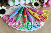 6 design option Decorative Wave lace Edge Craft Scissors DIY for Scrapbook Handmade Kids Artwork paper cutter W2511113