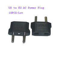 10pcs/Lot US to EU AC Power Plug Travel Converter Adapte