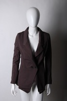 Brown slim suit Women outerwear 2011 spring OL outfit work wear
