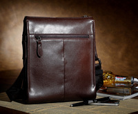 2013New style pure manual genuine cow leather men's messenger ,business&leisure shoulder handbags,free shipping