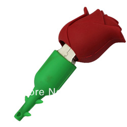 Rose Red Flower Style New Mini USB Flash Drive 4GB 8GB 16GB Stick Thumb Memory Pen(China (Mainland))