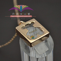 Free shipping ITALINA colorful crystal bear rose gold jewelry hangings necklace female 696