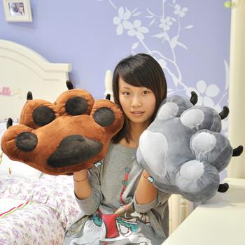 2013 free shipping Rabbit cute card case big bear paw cushion bear paw interpose and pillow birthday gift Valentine present