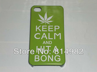 free shipping  keep calm and hita bong hard case for iphone 4S