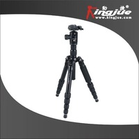 Kingjue MM-A259 Ultramodern Mini Foldable Aluminum Tripod With Panoramic QM Ballhead
