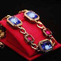 Vintage baroque luxury color block decoration gem necklace colnmnaris necklace