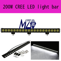 LED light bar 200W single row with 10w CREE LEDs,single row LED light bar