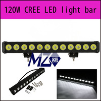 120W single row led truck lights bar 12pcs*10w,CREE led