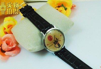 F03850-2 Fashion Lovely Cat Cartoon Leather Strap Quartz Wrist Watch for Women Ladies + free shipping