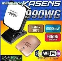 FREE SHIPPING,990WG ADAPTADOR WIFI USB KASENS 6000MW 60DBI Antena neighbor  password Usb Wifi Ralink 3070