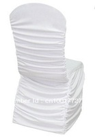 free shipping 100 pcs 210gsm ruffle spandex chair covers event party chair cover spandex