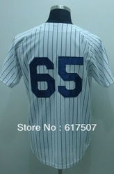 Free Shipping New York #65 Phil Hughes Men's Baseball Jersey,Embroidery and Sewing logos,Size M--3XL(China (Mainland))