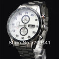 Free Shipping SS White Dial Mens Chronograph Watch CV 2A11.BA0796