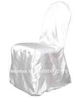 free shipping 100pcs white satin banquet chair cover for wedding  event
