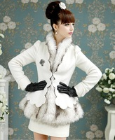 fashion grace wool thick lady coat  warm outerwear 105